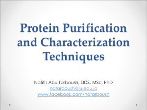 Protein Purification and Characterization Techniques