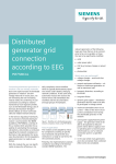Distributed generator grid connection according to EEG