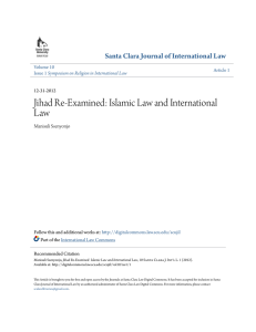 Jihad Re-Examined: Islamic Law and International Law