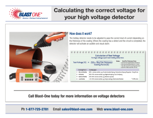 Calculating the correct voltage for your high voltage - Blast-One