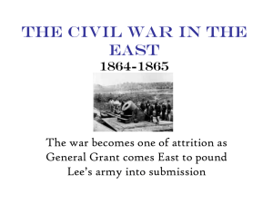 The Civil War in the East 1864-1865