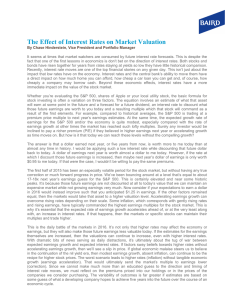 The Effect of Interest Rates on Market Valuation