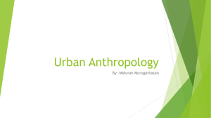 Urban Anthropology