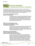 Handout 3.4: Research Summary on Communication Practices for
