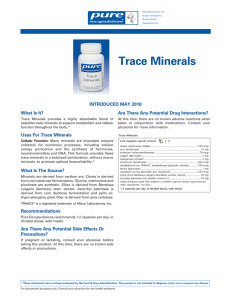Trace Minerals - Pure Encapsulations