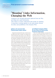 """Meaning"" Links Information, Changing the Web"