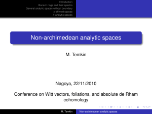 Non-archimedean analytic spaces