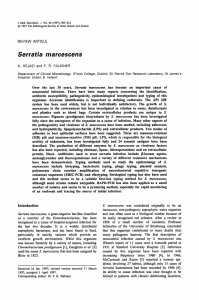 Serratia marcescens - Journal of Medical Microbiology