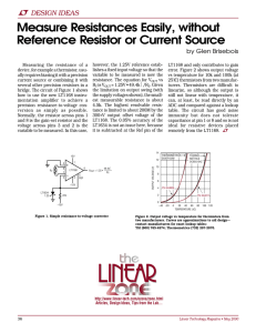 May 2000 Measure Resistances Easily, without Reference Resistor