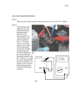 GAS VALVE SOLENOID CHECK