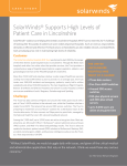 Case Study - SolarWinds Supports High Levels of Patient Care in