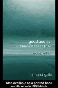 Good and Evil: An Absolute Conception, Second Edition
