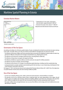 Maritime Spatial Planning in Estonia
