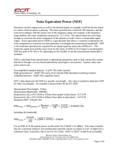 Noise Equivalent Power (NEP) - Electro