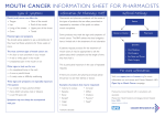 mouth cancer information sheet for pharmacists