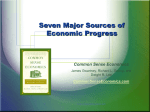 Seven Major Sources of Economic Progress