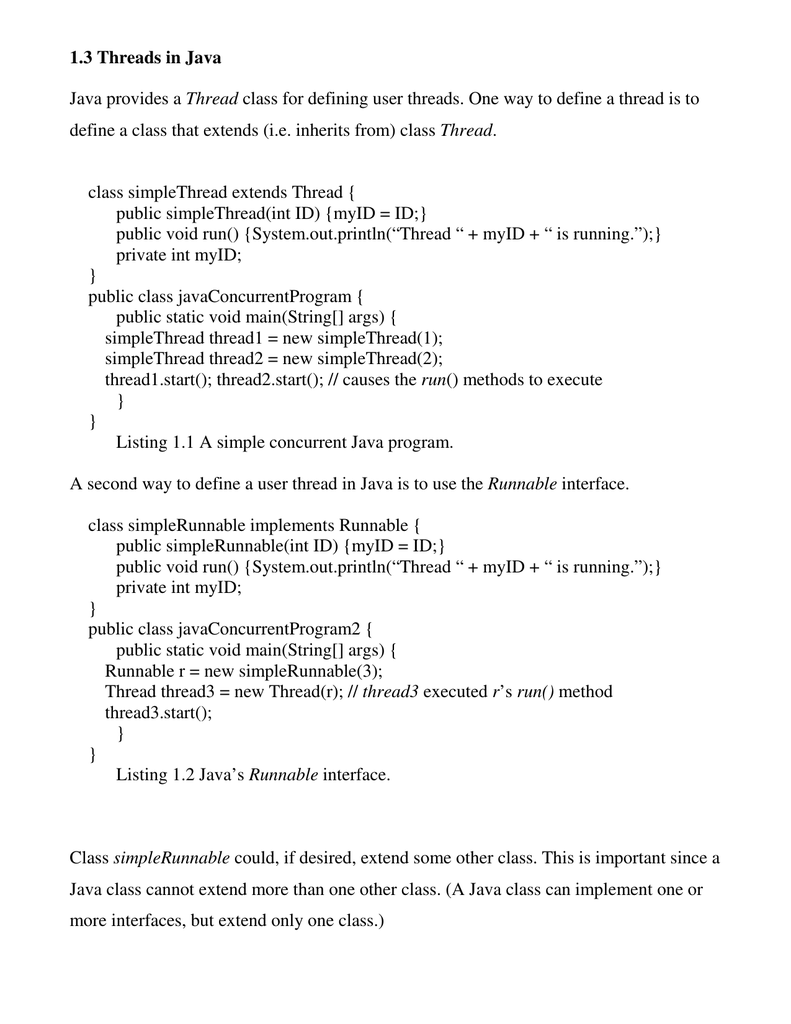 thread methods in java