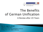 The Benefits of German Unification