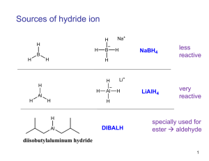 Sources of hydride ion