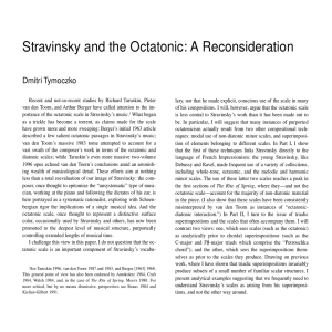 Stravinsky and the Octatonic: A Reconsideration