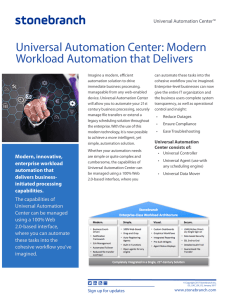 Universal Automation Center: Modern Workload Automation that
