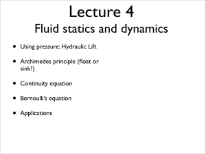 Fluid statics and dynamics