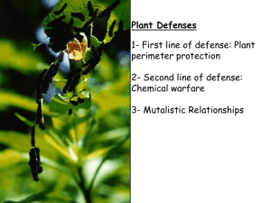 Plant Defense - Henriksen Science