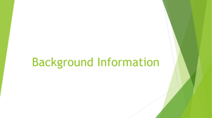 Background Information powerpoint