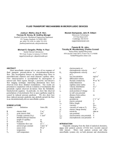 fluid transport mechanisms in microfluidic devices