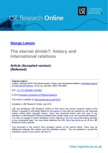 The eternal divide?: history and international relations