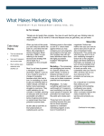 What Makes Marketing Work - Prosperity Plus Management