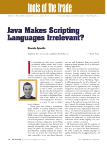 Java Makes Scripting Languages Irrelevant?