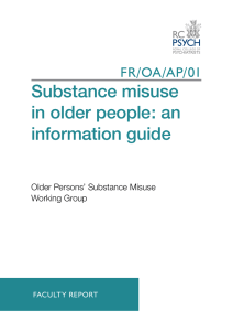 Substance misuse in older people