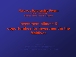 Investment climate and opportunities for investment in the
