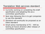 Translation Web services standard