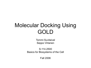 Molecular Docking Using GOLD