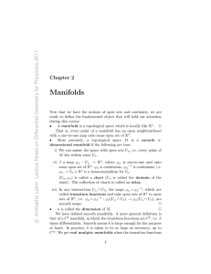 Chapter 2: Manifolds