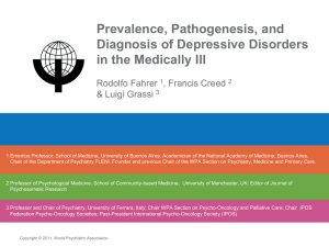 Prevalence, Pathogenesis, and Diagnosis of Depressive Disorders