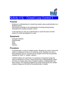 Activity 4.5j – Closed Loop Control 3 Purpose Develop an