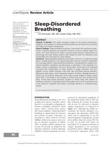 Sleep-Disorders Breathing