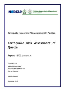 Earthquake Risk Assessment of Quetta
