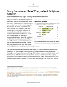 Sunni-Shia Tensions - Pew Forum on Religion and Public Life