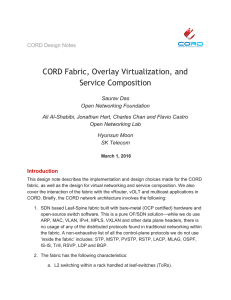 CORD Fabric, Overlay Virtualization, and Service Composition
