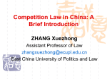 Competition Law in China: A Brief Introduction