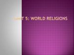 The Five Major World Religions