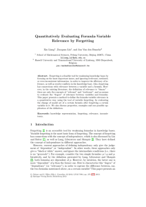 Quantitatively Evaluating Formula-Variable Relevance by