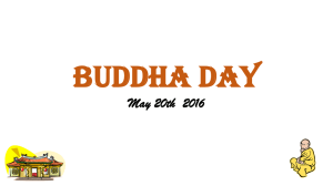 buddha day - New Woodlands School