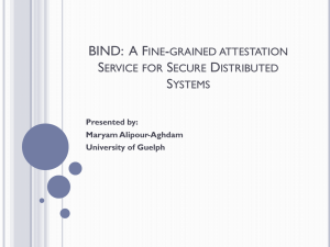 BIND - University of Guelph