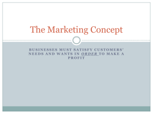 The Marketing Concept - Joplin Business Department