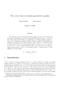 The cover time of random geometric graphs - CMU Math